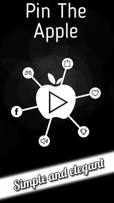 Pin the Apple  Just pin all the sharp pins to the apple and avoid hitting other pins and move to the next level. It sounds easy, but actually it's not.