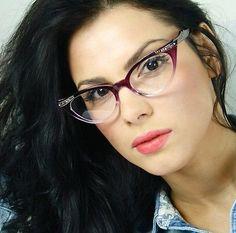 50s-Vintage-Retro-Clear-Lenses-Gradient-Purple-Frame-Cat-Eye-Women-Eyeglasses