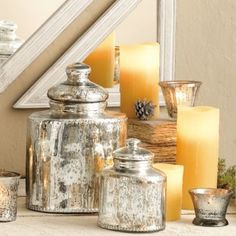 I love mercury glass and now I can make some of my many saved jars a little more chic with a lot less money...