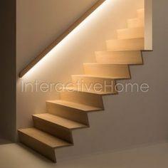 Фото лестниц с подсветкой. Галерея