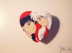 Anime hand painted boxes series / Inuyasha box / Inuyasha and Kagome Box