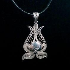 Pomegranate Pendant for Wealth & Abundance Sterling Silver Filigree Jewelry, Filigree Earrings, Delicate Jewelry, Silver Pendant Necklace, Wire Jewelry, Sterling Silver Pendants, Pendant Jewelry, Jewelry Art, Silver Earrings