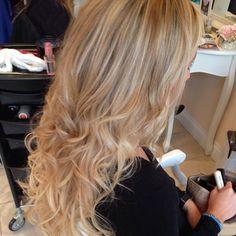 blonde - curls - loose curls - long hair - salon - La Durbin