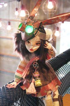 Irene Oxide, custom Korean Steampunk doll by Dollightful