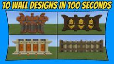 10 Minecraft Wall Designs In 100 Seconds [Minecraft Bedrock Edition] [MCPE] Minecraft Medieval Buildings, Minecraft Bridges, Minecraft Architecture, Minecraft Floor Designs, Minecraft Projects, Minecraft Ideas, Minecraft Garden, Minecraft Houses, Minecraft Building Blueprints