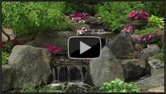 Video that shows the features and benefits of a waterfall in the landscape