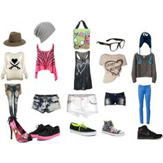 Cute and punk scene fashion outfits