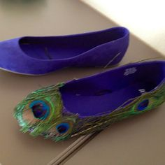 DIY shoes, lol this pinner bet me to it, I had this thought over the weekend, but for a pair of heels lol, great minds think alike!