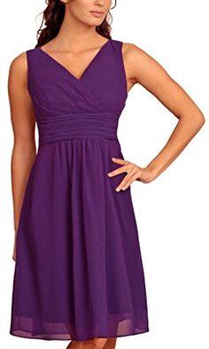 Fashion House V Neck Chiffon Cocktail Party Evening Dress Purple Size 16 MY EVENING DRESS http://www.amazon.co.uk/dp/B00LO4IVU2/ref=cm_sw_r_pi_dp_CtdCvb1H838YX