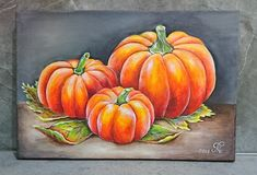 Pumpkins, Acrylic painting on canvas vegetable painting, fine art, kitchen decor, wall art. Fall Canvas Painting, Iris Painting, Autumn Painting, Autumn Art, Canvas Art, Acrylic Canvas, Pumpkin Canvas, Pumpkin Art, Watercolor Paintings