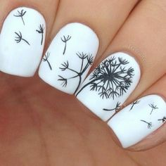 Seriously I have been wanting a dandelion tattoo for a while now and I think that these nails are awesome. If I get the time tonight Im gonna try this