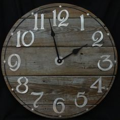 22 Inch RUSTIC RECYCLED Wall CLOCK from a by ClocksByHomestead, $89.  The time worn wood used in this clock was from a discarded pier.