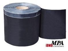 Elastomer-Sealing-Foil made of EPDM-rubber with single-sided butyl self-adhesive strip (2 cm)