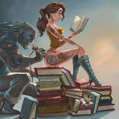 арт барышня,арт девушка, art барышня, art девушка,,красивые картинки,татуировки,Belle,красавица и чудовище