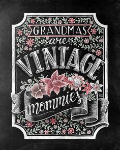 Grandma To Be Chalk Art Grandma Gift Chalkboard Art Chalkboard Art Kitchen, Chalkboard Writing, Sign Writing, Blackboard Wall, Chalk Fonts, Chalk Lettering, Lettering Design, Learn Calligraphy, Typography Inspiration