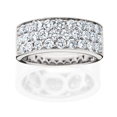 14K White Gold Diamond Band. Available at PAVÉ Jewelry & Design Studio. www.pavemv.com