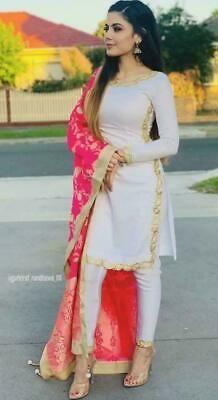 Indian pakistani kurta kurti dress with palazzo dupatta TopTunic Ethnic Bottom # . - Indian pakistani kurta kurti dress with palazzo dupatta TopTunic Ethnic Bottom - Indian Suits Punjabi, Pakistani Kurta, Punjabi Dress, Pakistani Outfits, Indian Attire, Indian Wear, Punjabi Salwar Suits, Anarkali, Punjabi Wedding Suit
