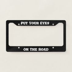 Glossy Black License Plate Frame Auto Accessory Quotes Man-Is-Born-Free