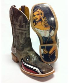 Tin Haul White & Black Gorilla World & Check Cowboy Boot | Tin ...