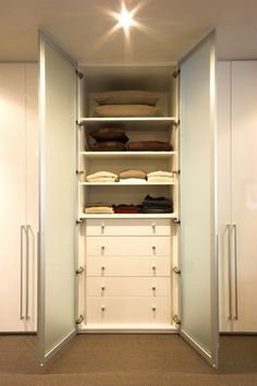 built in's for more closet space