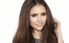 Download wallpapers Nina Dobrev, smile, portrait, beautiful woman, canadian actress