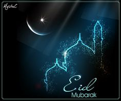 "Eid means ""celebration"" and refers to the occasion itself, and Mubarak means ""Blessed"". Eid-al-Fitr or Eid Mubarak is the greatest festival of the Muslims. Photo Eid Mubarak, Eid Mubarak Wünsche, Eid Mubarak Hd Images, Eid Mubarak Messages, Eid Mubarak Quotes, Eid Mubarak Wishes, Happy Eid Mubarak, Eid Images, Eid Quotes"