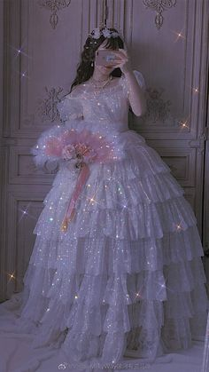 Baby Blue Aesthetic, Queen Aesthetic, Princess Aesthetic, Pretty Outfits, Pretty Dresses, Beautiful Dresses, Fairytale Dress, Fairy Dress, Fantasy Gowns