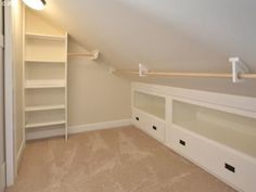 cupboards and shelves sloped ceiling study - Google Search