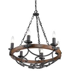 Spanish outdoor hand forged wrought iron outdoor lighting a rustic solid wood ring and metal scrollwork gives this hand forged chandelier a spanish look aloadofball Images