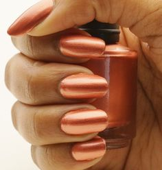 Copper Nail Polish 15 ml by CanvasNails on Etsy