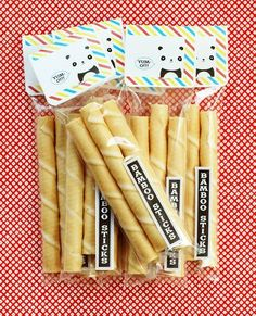 Bamboo Stick Favors for Panda + Donut Party - BunnyCakes Blog