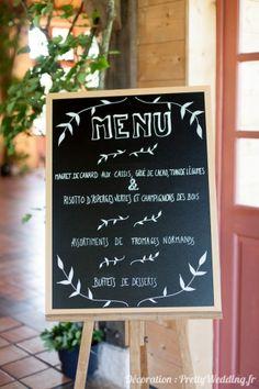 #menue #ardoise #nature #décoration #mariage #pretty #wedding @Pretty Wedding