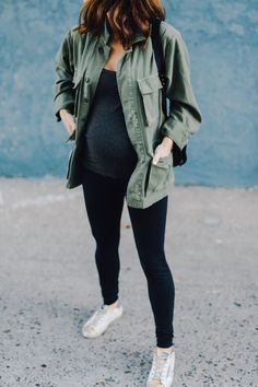Styling tips for maternity leggings. Be cute and comfy during pregnancy with outfits that include leggings