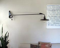 A de T 'Potence' BLACK jib lamp (LARGE)
