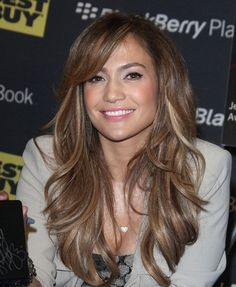 Jennifer Lopez layers & bangs/love the hair cut
