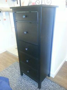 Dark Wooden Tall Skinny Dresser