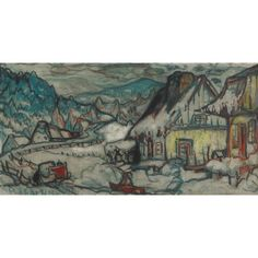 View CHARLEVOIX, WINTER By Marc-Aurèle Fortin; Access more artwork lots and estimated & realized auction prices on MutualArt. Canadian Painters, French Colonial, Colonial Architecture, Auction, Winter, Artwork, Painting, Painters, Artists