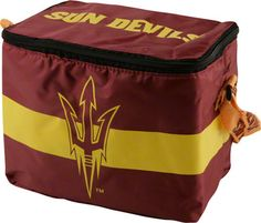 Arizona State Sun Devils Lunch Bag: 6 Pack Zipper Cooler
