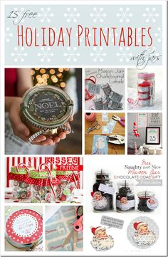 Free Holiday Printables with jars