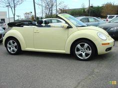 Mellow Yellow 2006 Volkswagen New Beetle Convertible Exterior Photo My Dream Car, Dream Life, Dream Cars, Volkswagen New Beetle, Beetle Car, I Got A Car, Vw Beetle Convertible, Florida Living, Cute Cars