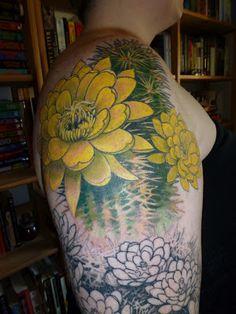 Cactus Flower Tattoo Session 2...
