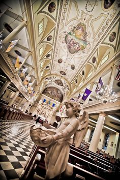 Inside St. Louis Cathedral one of the most beautiful church's ever!!