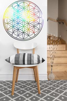Find More Wall Stickers Information about Flower of Life Decal | Rainbow Vinyl Wall Sticker | Sacred Geometry |Holographic 56X56CM,High Quality wall sticker,China flower of life sticker Suppliers, Cheap wall decals flowers from ACB Wall Art Store on Aliexpress.com