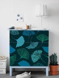 fleurs tombantes de ikea malm commode turquoise amovible ikea stickers stickers meubles ensemble