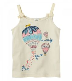 Take a look at this Vanilla Hot Air Balloon Bow Tank - Infant & Toddler by RUUM on today! Fashion Kids, Little Girl Fashion Clothes, Teen Girl Outfits, Kids Outfits, Clothing Subscription Boxes, Baby Leggings, Summer Shirts, Baby Wearing, Kids Wear