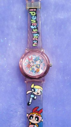 Powerpuff girl watch I had this onec: Girls Jewelry, Cute Jewelry, Jewlery, Powerpuff Girls Wallpaper, Cartoon Wallpaper, Trendy Hoodies, Best Coffee Mugs, Coloring Pages For Girls, Girls Accessories