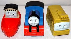 Brand New Design Thomas and Friends Bath Buddies (set of 3) Thomas squirts water