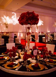 Centerpieces red centerpieces wedding centerpieces rose flowers hunted wedding flowers red roses junglespirit Image collections