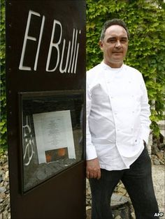 El Bulli. The best restaurant in the world. 3 Michelin stars. Located just outside of Barcelona, Spain. The chef Ferran Adria has now closed this restaurant to reopen in 2014. This is on the top of my restaurant wish list.