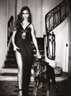 541a50dcac9a Vincent Peters shoots Bianca Balti for the February 2010 issue of Vogue  Germany. Dobermans